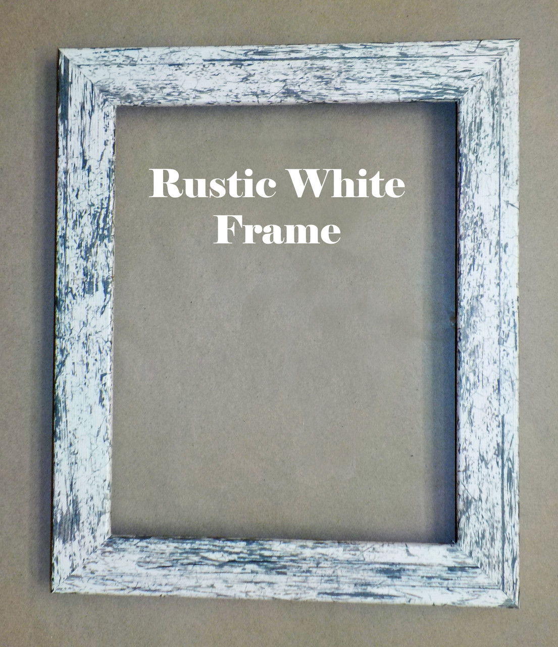 """8"""" x 10"""" Rustic White Picture Frame"""