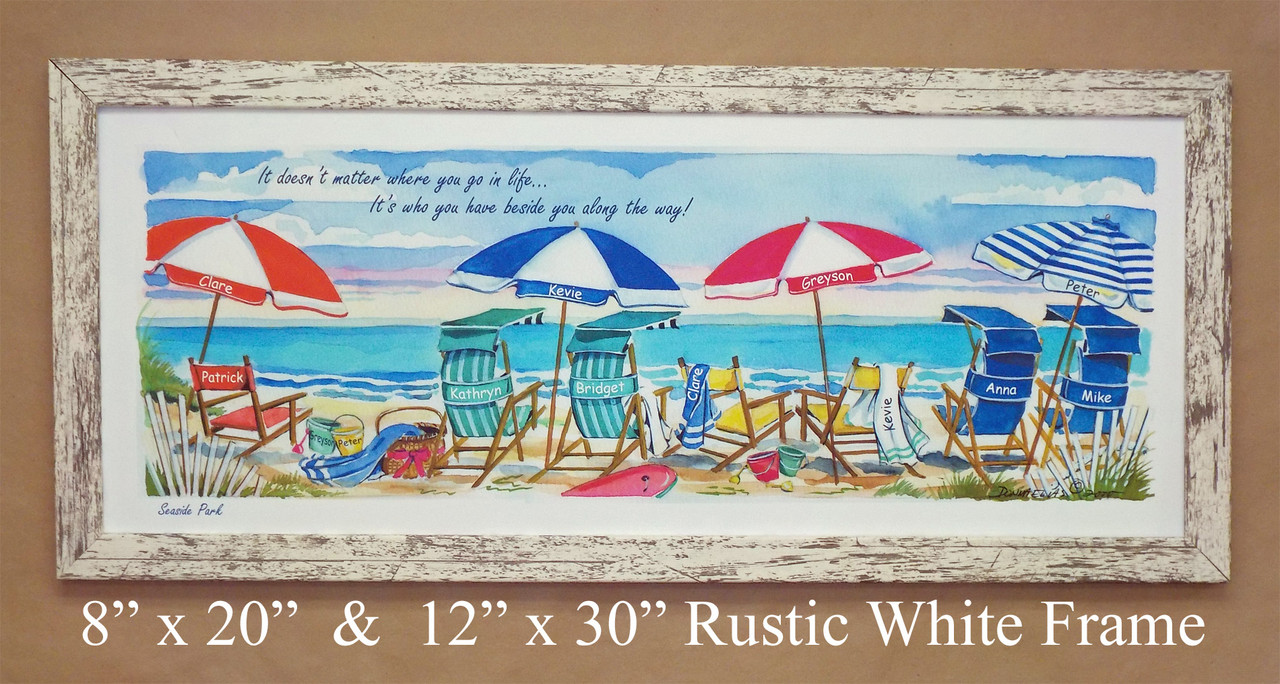 Seaside Surfboat - Personalize with up to 14 names