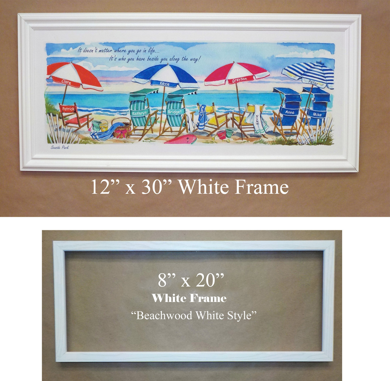 Oceanview Three - Personalize with two names