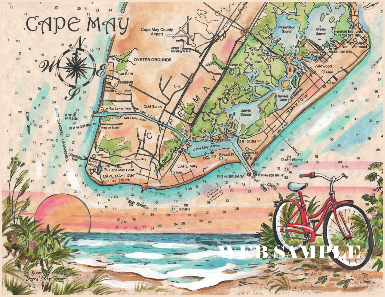 Charting Cape May by Donna Elias