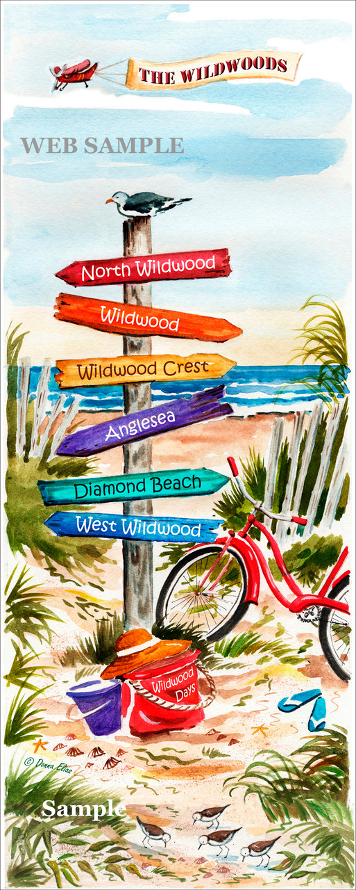 Wildwood Signpost by Donna Elias