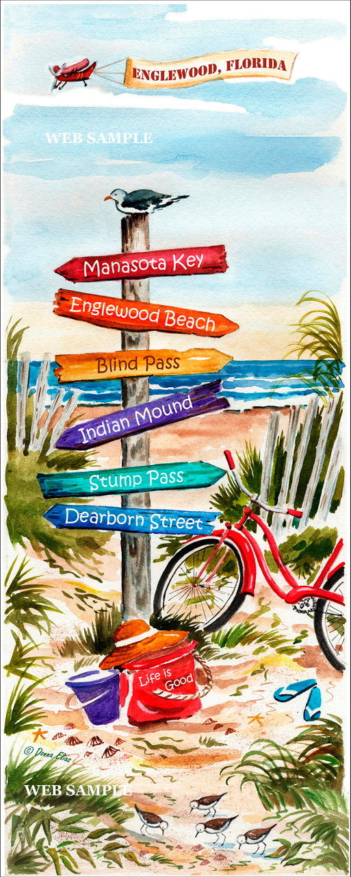 Englewood Signpost by Donna Elias