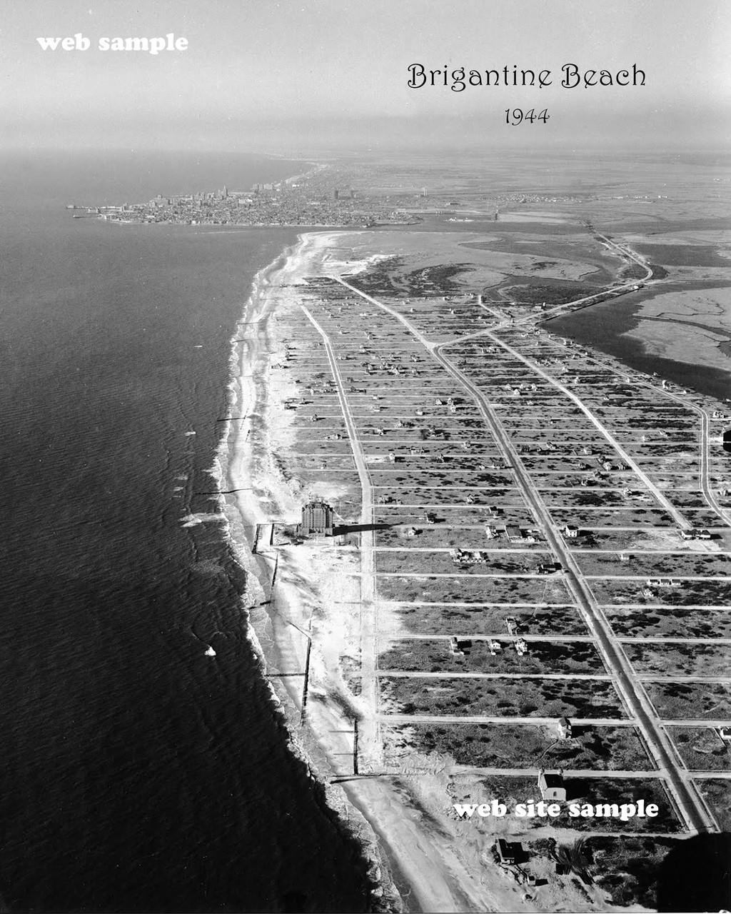 Brigantine Beach Aerial photograph