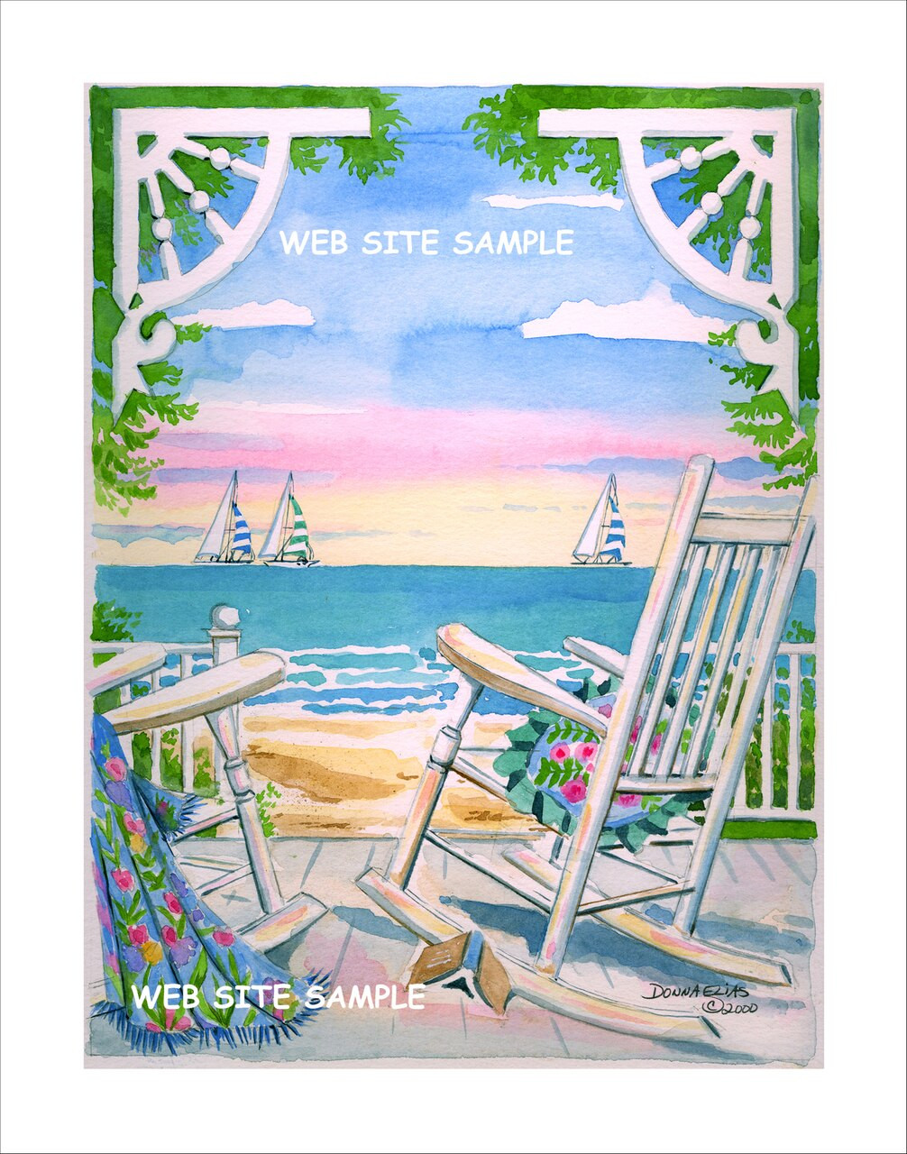 """Porch Chairs - Set of Four Individual 8"""" x 10"""" Prints"""