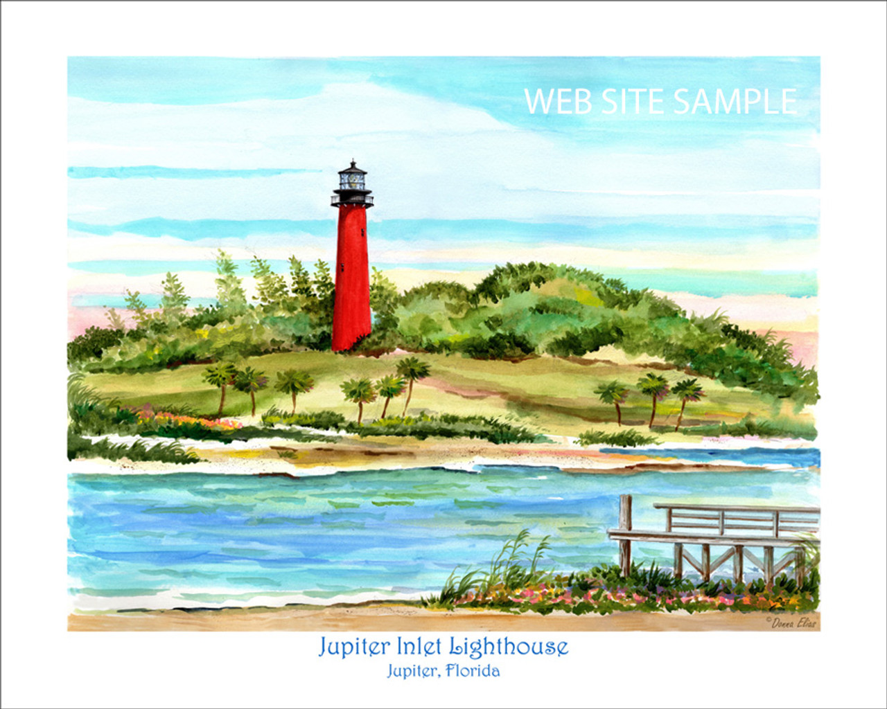 Jupiter Inlet Lighthouse copyright 2020 by Donna Elias