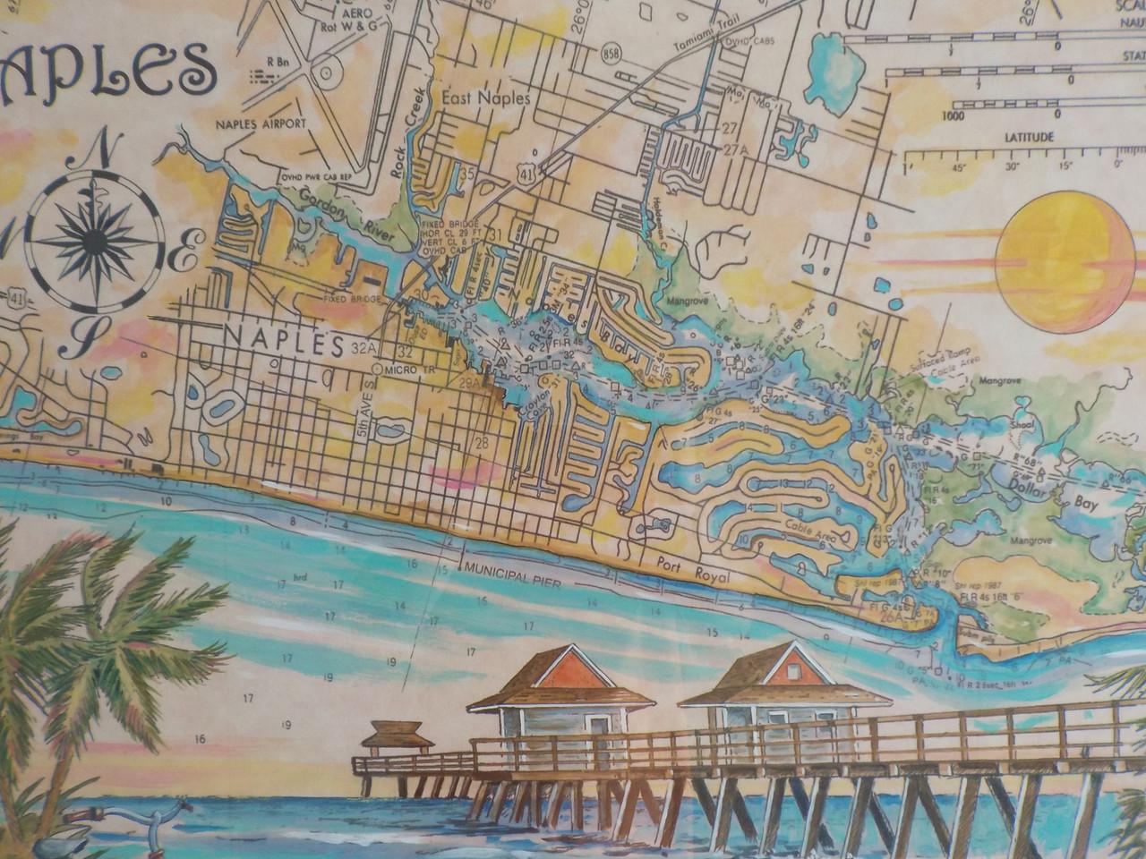 Charting Naples, Florida custom framed Fine Art Print