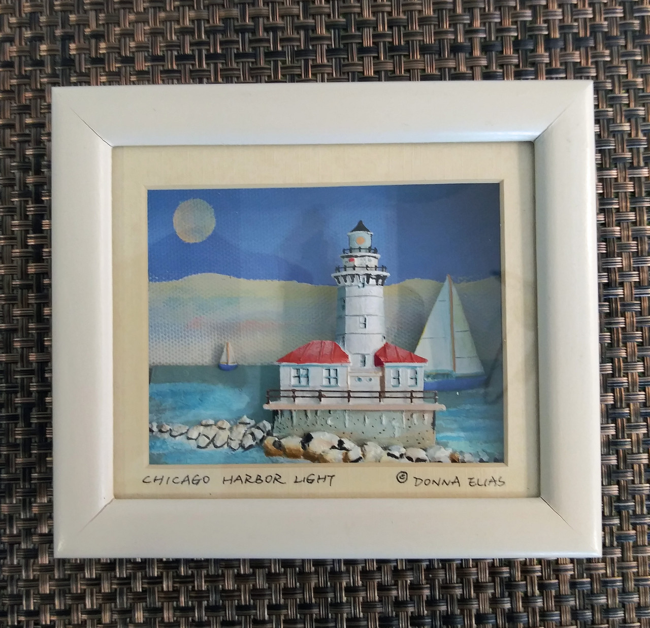 Chicago Harbor Lighthouse - 3D Shadow Box