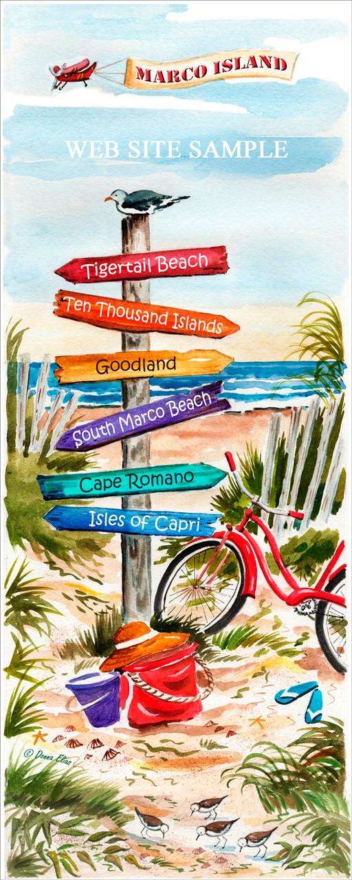 Marco Island Sign Post copyright Donna Elias