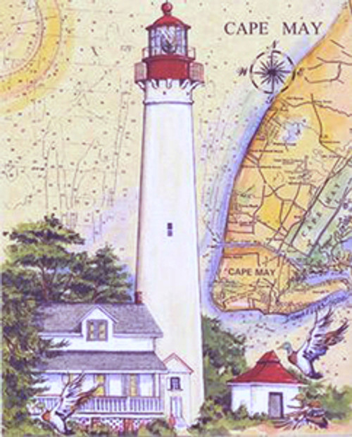 Cape May Lighthouse Sea Chart