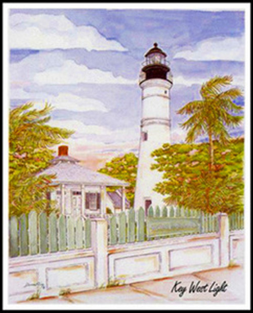 "Key West Lighthouse - 19"" x 26"" Signed Fine Art Print"