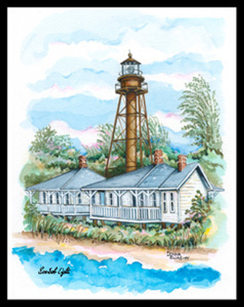 Sanibel Island Lighthouse by Donna Elias