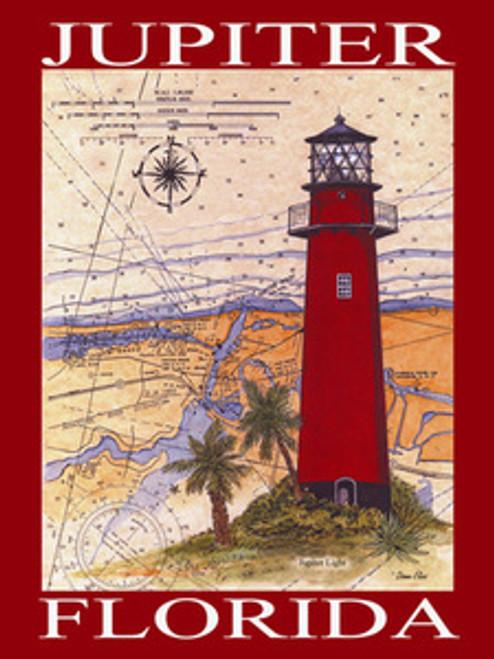 Jupiter Lighthouse Sea Chart Poster