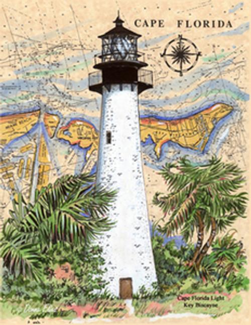 Cape Florida Lighthouse by Donna Elias