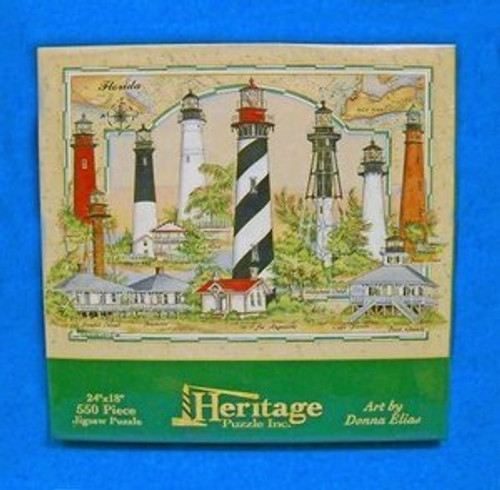 Lighthouses of Florida Jig Saw Puzzle