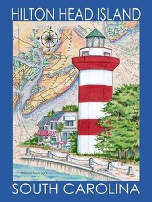 Hilton Head Island Sea Chart Poster