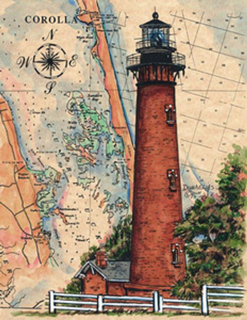 Currituck Beach Lighthouse by Donna Elias