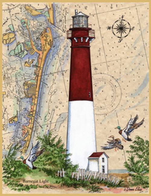 Barnegat Lighthouse Sea Chart