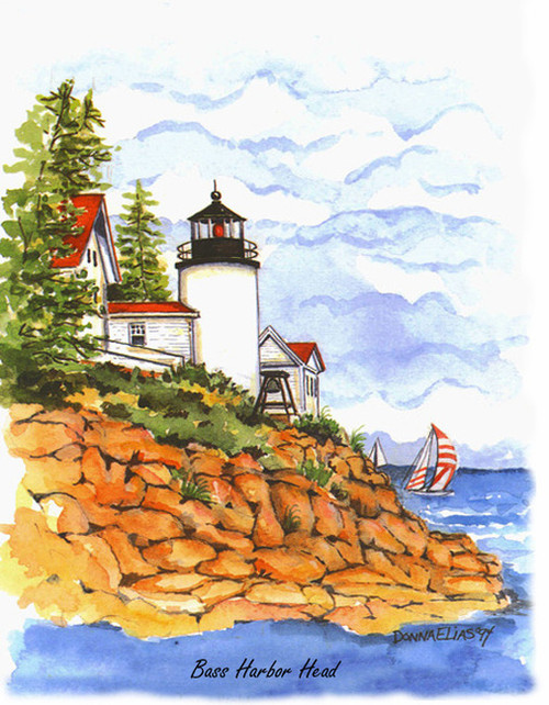 Bass Harbor Lighthouse copyright Donna Elias