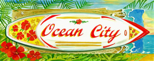 Surf City Flowers - Personalize with One Name or Town