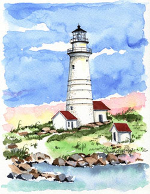 Boston Light copyright Donna Elias