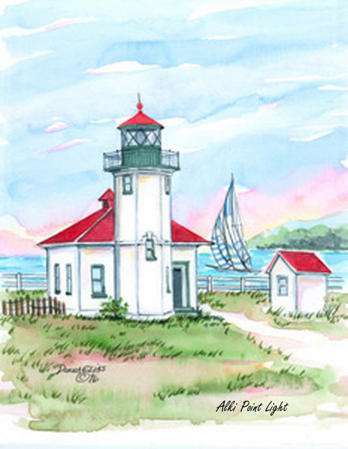 Alki Point Lighthouse copyright Donna Elias