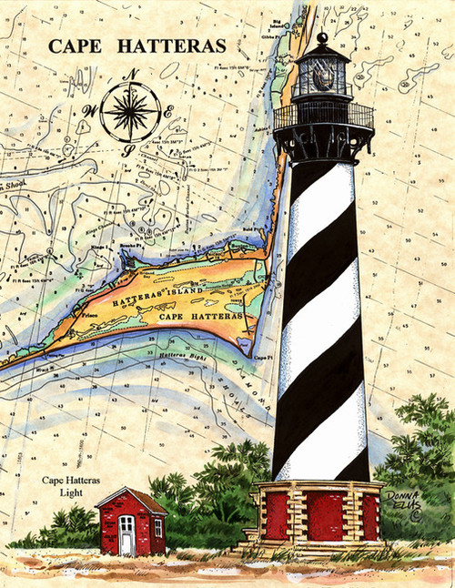 Cape Hatteras Lighthouse by Donna Elias