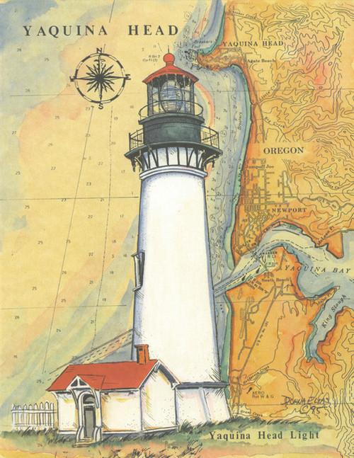 Yaquina Head Sea Chart Lighthouse copyright Donna Elias
