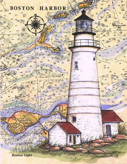 Boston LighthouseSea Chart