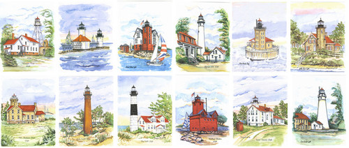 Michigan Lighthouses - 12 Piece Collectors Set