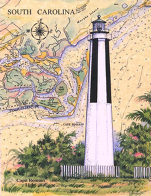Cape Romain Lighthouse Sea Chart