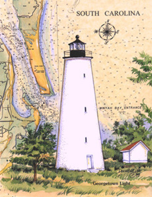 Georgetown Lighthouse Sea Chart