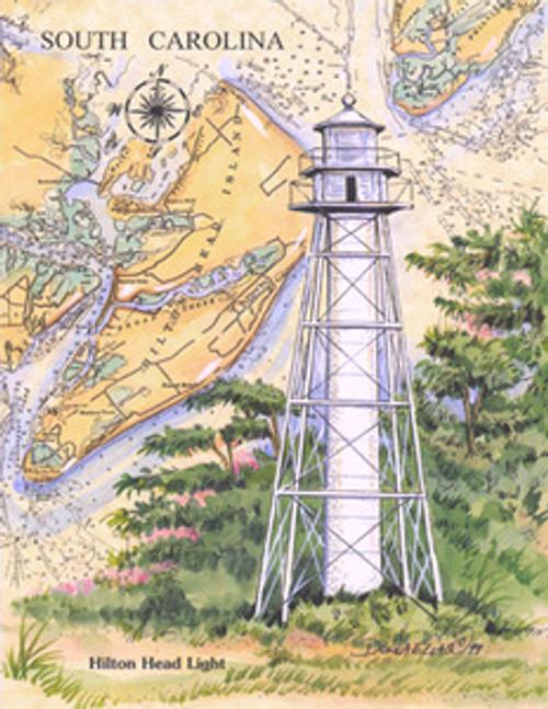 Hilton Head Rear Range Lighthouse Sea Chart