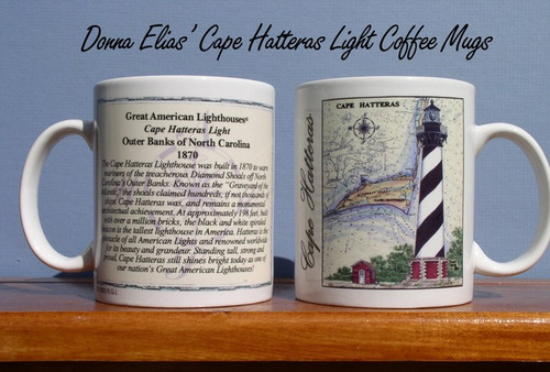 4 Piece Lighthouse Coffee Mug Set - Your Choice of 16 Designs!