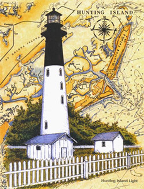 Hunting Island Lighthouse Sea Chart