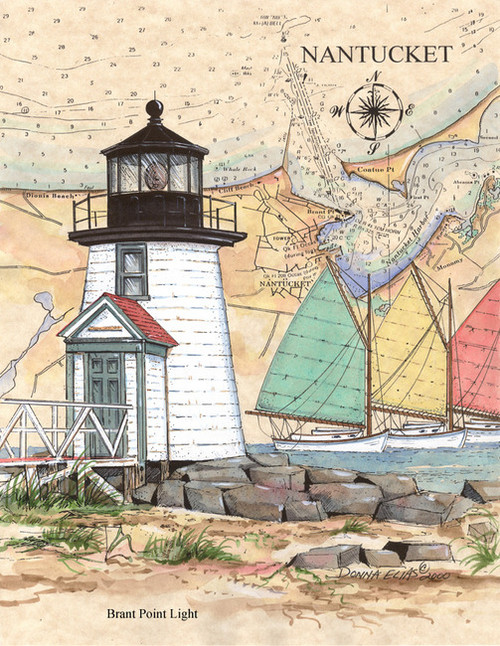 Brant Point Lighthouse by Donna Elias