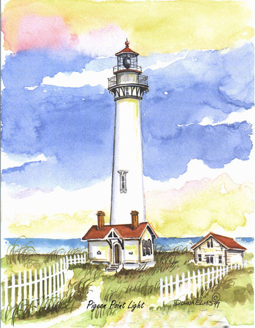 Pigeon Point Lighthouse copyright Donna Elias