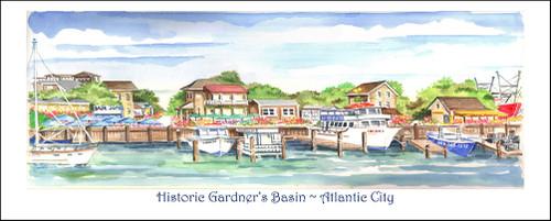 Gardner's Basin Marine Park in Atlantic City, New Jersey by Donna Elias