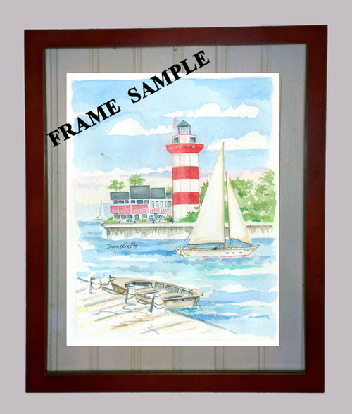 Assateque Island Lighthouse - Maritime Watercolors Original Painting