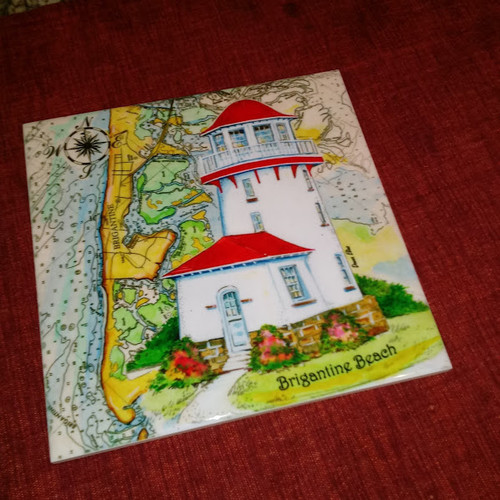 Brigantine Beach Sea Chart Light tile by Donna Elias