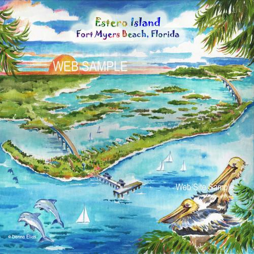 Estero Island - Fort Myers Beach Tile & Trivet