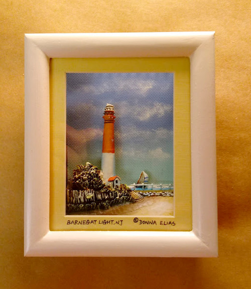 Barnegat Lighthouse - 3D Shadow Box