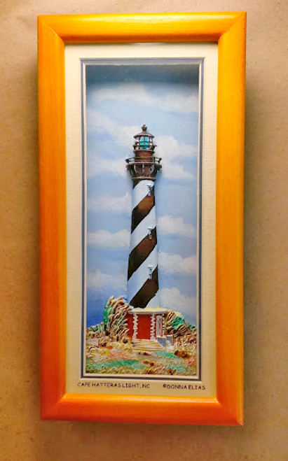 Cape Hatteras Lighthouse - 3-D Shadow Box Panorama