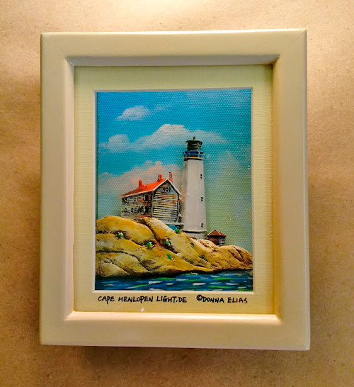 Cape Henlopen Lighthouse - 3D Shadow Box