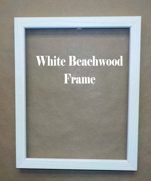 "8"" x 10"" White Beachwood Picture Frame"