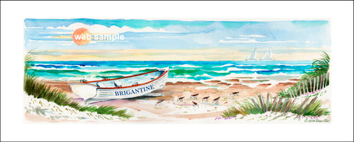 Surfboat Serenity Two - Brigantine by Donna Elias