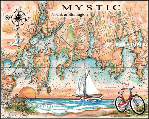 Charting Mystic, Ct. by Donna Elias
