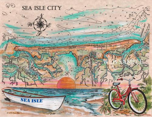 Charting Sea Isle City by Donna Elias