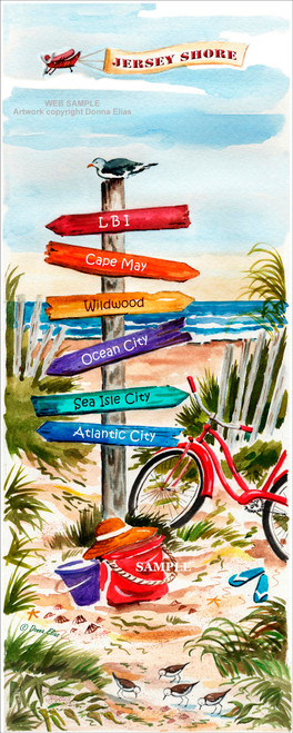Jersey Shore Sign Post by Donna Elias