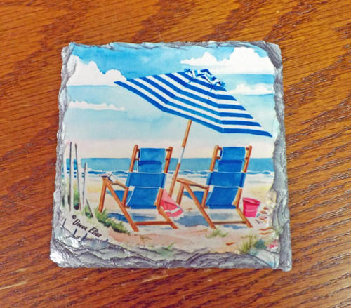 Oceanview Two  - 4 Slate Drink Coasters