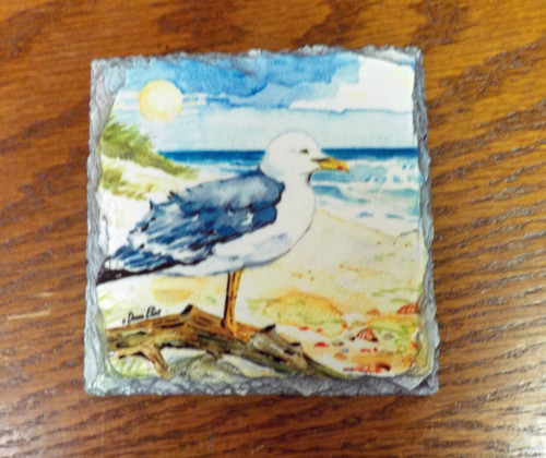 Sea Gull  - 4 Slate Drink Coasters